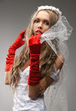 Beautiful bride posing Royalty Free Stock Image