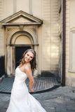 Beautiful bride posing Royalty Free Stock Photo