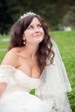 Beautiful bride posing in her wedding day Stock Image