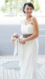 Beautiful Bride Posing Outdoors On Wedding Day Royalty Free Stock Photos