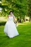 Beautiful bride posing Royalty Free Stock Photography