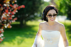 Beautiful bride posing Royalty Free Stock Images