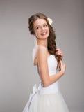 Beautiful Bride Posing Stock Images