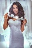 Beautiful bride posing in studio. Stock Photos