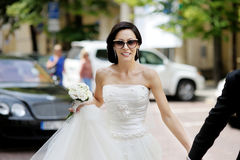 Beautiful bride posing Royalty Free Stock Photos
