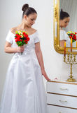 Beautiful bride posing Stock Image