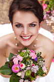 Beautiful bride with pretty smile Stock Photos
