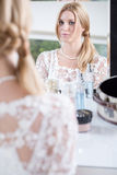 Beautiful bride with ready makeup Royalty Free Stock Photos