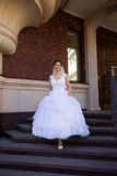 Beautiful bride. Rich bride in a wedding dress for a walk Stock Photo