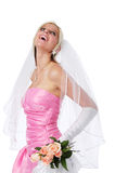 Beautiful bride with roses Royalty Free Stock Images