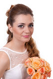 Beautiful bride with roses Stock Photos