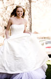 Beautiful Bride Running Stock Image