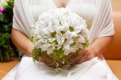 Beautiful bride's bouquet of flowers Stock Photos