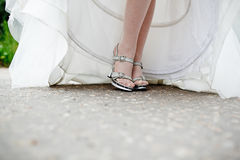 Beautiful bride's shoes Stock Photos