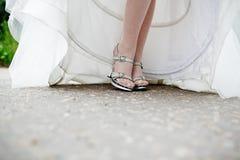 Beautiful bride's shoes Stock Photos
