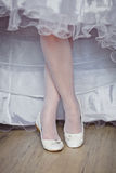 Beautiful bride's shoes Stock Photography