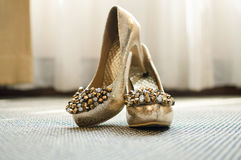 Beautiful Bride shoes stock images
