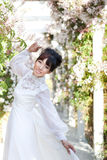 Beautiful Bride in Springtime Royalty Free Stock Image