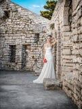 Beautiful bride standing or posing Royalty Free Stock Photo