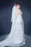 Beautiful bride in studio. Shooting Stock Images