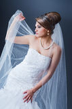 Beautiful bride in studio Stock Photo