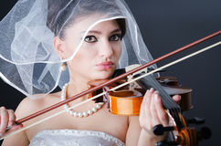 Beautiful bride in studio Royalty Free Stock Photo