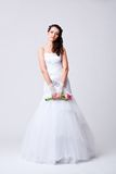 Beautiful bride studio full length portrait Stock Image