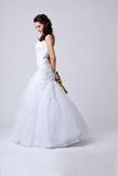 Beautiful bride studio full length portrait Stock Photo