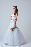 Beautiful bride studio full length portrait Royalty Free Stock Images