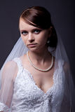 Beautiful bride in studio shooting Stock Photo