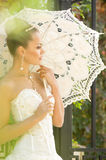 Beautiful bride with stylish make-up Stock Photography