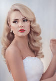Beautiful bride with stylish make-up Stock Image