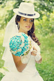 Beautiful bride, tinted Royalty Free Stock Photos