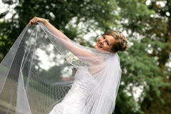 Beautiful bride with veil Royalty Free Stock Photography