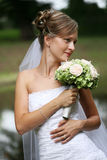 Beautiful bride with veil Stock Photography