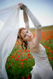 Beautiful bride with veil Royalty Free Stock Image