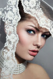 Beautiful bride with veil Royalty Free Stock Images