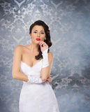 A beautiful bride on a vintage background Royalty Free Stock Photos