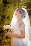 Beautiful Bride with wedding Stock Images