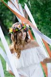 Beautiful bride during the wedding ceremony Royalty Free Stock Photography