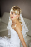 Beautiful bride in wedding day Stock Image