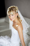 Beautiful bride in wedding day Stock Photography