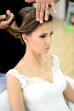 Beautiful bride on wedding day Royalty Free Stock Image
