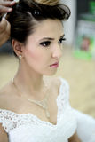 Beautiful bride on wedding day Stock Photo