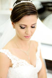 Beautiful bride on wedding day Royalty Free Stock Image