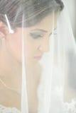 Beautiful bride on wedding day Stock Photo