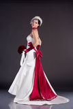 Beautiful bride in wedding dress royalty free stock photos