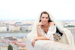 Beautiful bride in a wedding dress Stock Photo