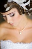 A beautiful bride in wedding dress. Royalty Free Stock Photography