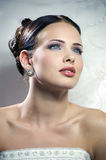 Beautiful bride in a wedding dress Royalty Free Stock Images